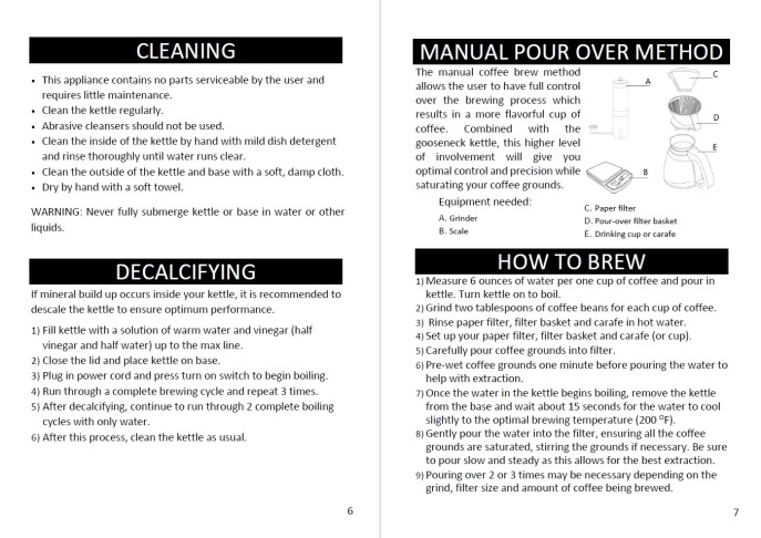 electric kettle manual